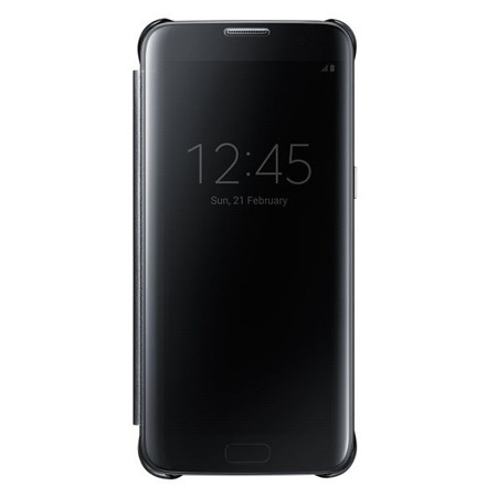 Etui Clear View Cover do Samsung Galaxy S7 Edge Czarny