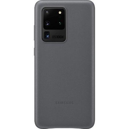 Etui do Samsung Galaxy S20 Ultra skórzane szare