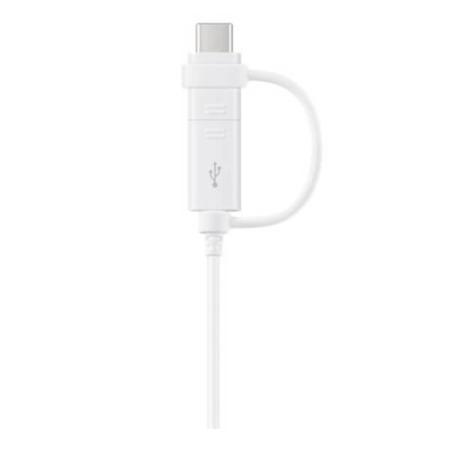 Kabel Samsung Combo MicroUSB Type C biały