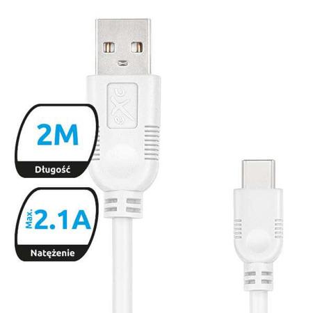 Kabel USB2.0 do USB-C eXc WHIPPY, 2m, mix