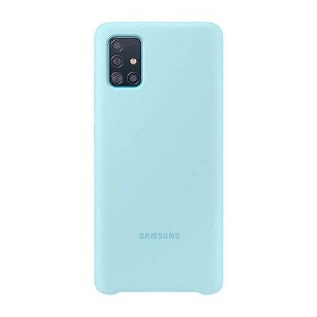 Silicone Cover do Samsung Galaxy A51 niebieskie