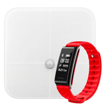 Waga Huawei Smart Scale AH100 + Color Band A2 AW61 czerwony