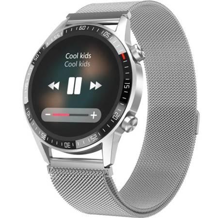Zegarek - Smartwatch Garett Gentleman GT srebrny stalowy