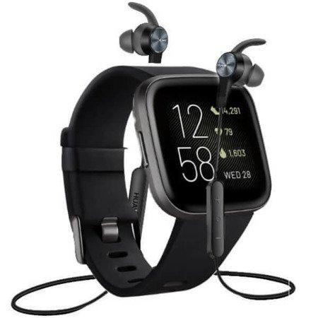 Zestaw Fitbit Versa 2 + Słuchawki Huawei AM61